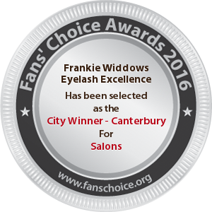 Frankie Widdows Eyelash Excellence - Award Winner Badge