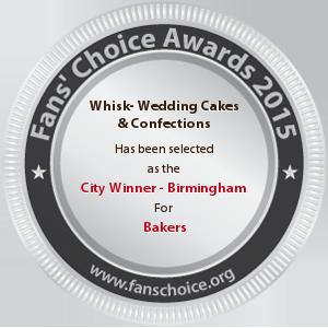 Whisk- Wedding Cakes & Confections - Award Winner Badge