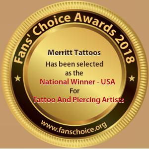 Merritt Tattoos - Award Winner Badge