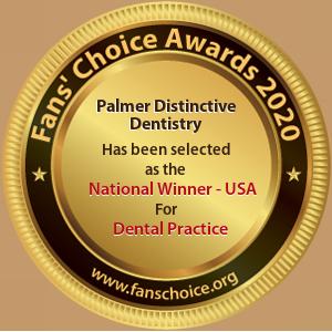 Palmer Distinctive Dentistry - Award Winner Badge
