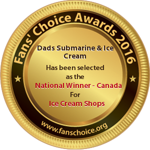 Dads Submarine & Ice Cream - Award Winner Badge