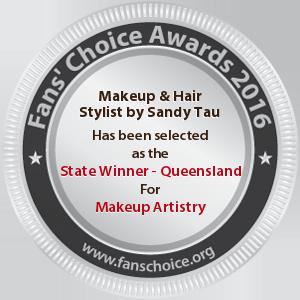 Makeup & Hair Stylist by Sandy Tau - Award Winner Badge