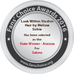 Look Within Studios Hair by Melissa Subia - Award Winner Badge