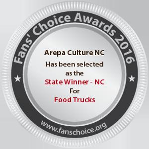 Arepa Culture NC - Award Winner Badge