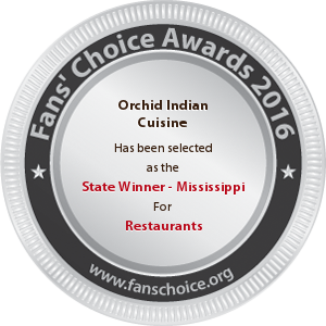 Orchid Indian Cuisine - Award Winner Badge