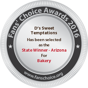 D's Sweet Temptations - Award Winner Badge