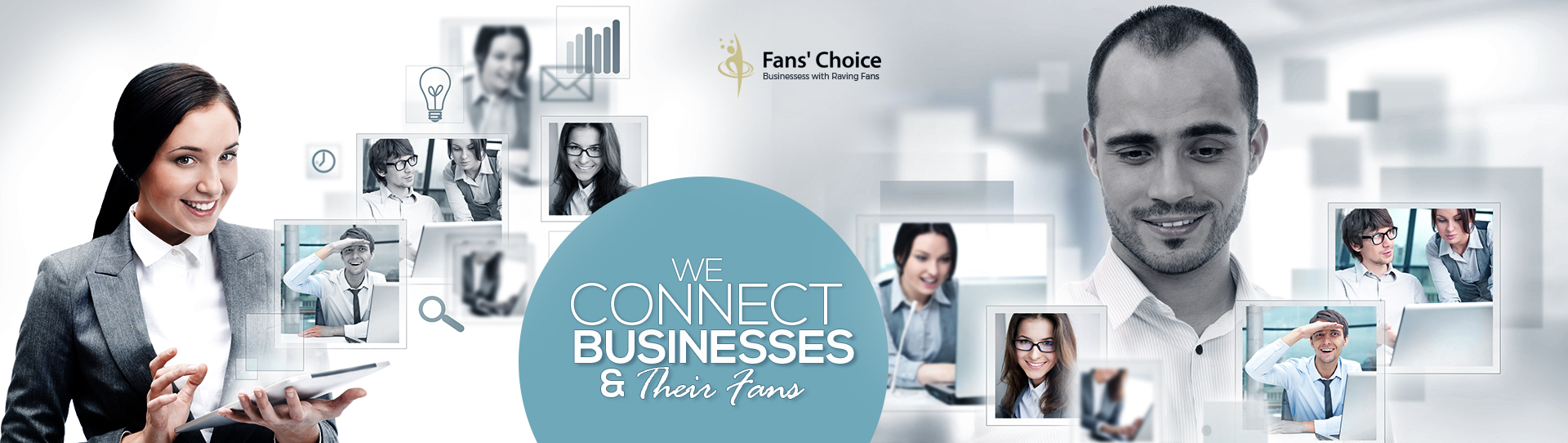 We connect businesses